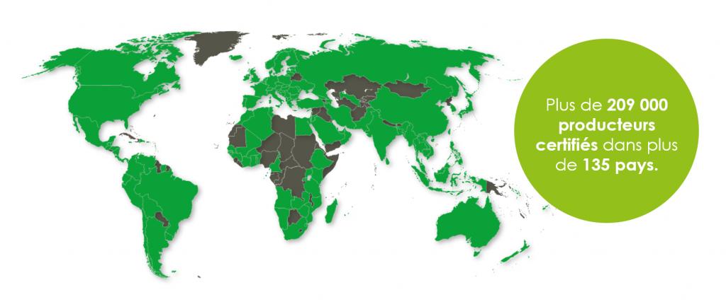 LA CERTIFICATION GLOBALG.A.P. DE PAR LE MONDE